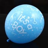 blå babyshower ballonger