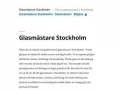 Glasmästare Stockholm