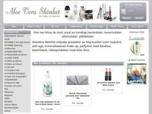 Aloe Vera Skönhet erbjuder produkter med aloe vera, mineralbaserad smink, handväskor, plånböcker mm
