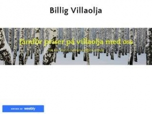 Billig Villaolja