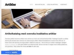 Artiklar - gratis artikelkatalog